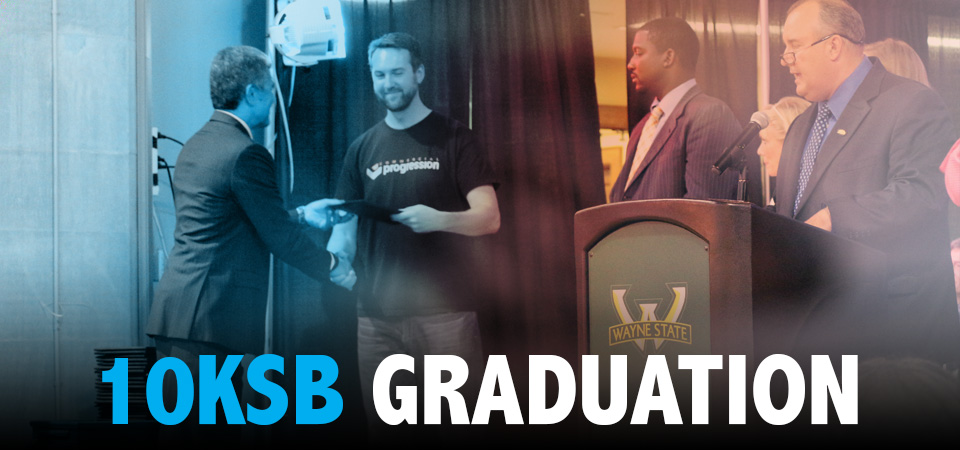 Alex Fisher graduates from Goldman Sachs 10,000 Small Businesses Detroit strategic growth program