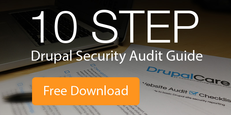 free 10 step drupal security audit guide