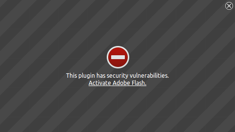 Adobe flash plugin security vulnerabilities