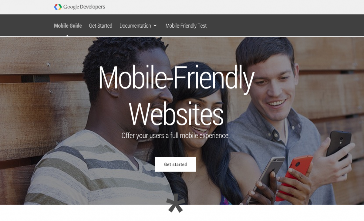 Google mobile developers resource website