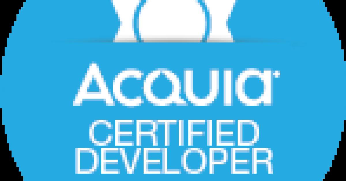 The Acquia Certified Developer Exam Commercial Progression