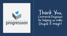 Thank you drupal 8 sponsorship tweet