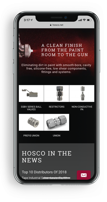 Hosco Mobile Responsive Website Design