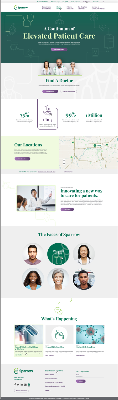 Sparrow Healthcare Drupal Development