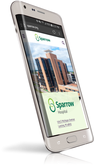 Sparrow Healthcare responsive website design